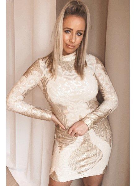 Kleed met wit en goud
