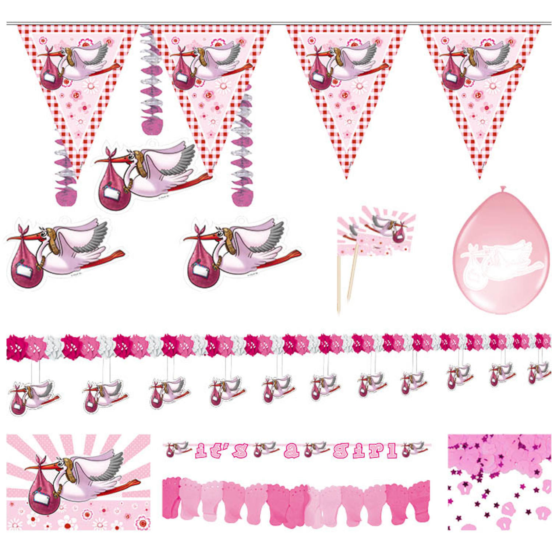 Partyset Geboorte Meisje | Feestpakket
