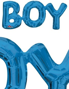 Ballon Boy Blauw - 55cm