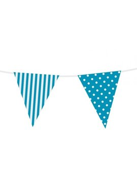 Vlaggenlijn Blauw Dots / Stripes