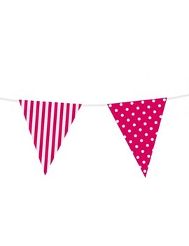Vlaggenlijn Roze Dots / Stripes