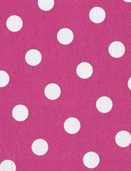 Servetten Dots Roze