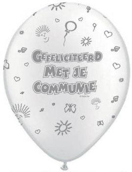 Ballonnen Communie Wit