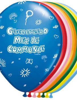 Ballonnen Communie Mix Kleuren