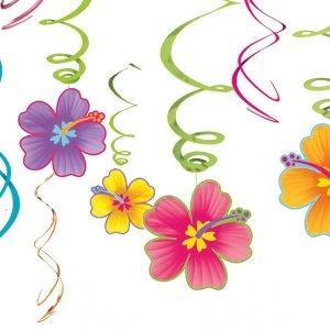 Swirl hangdecoratie slingers Hawaii