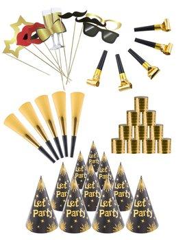 Partyset Chique Gold 10/Personen