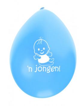 Ballonnen Geboorte 'n Jongen 8 Stuks