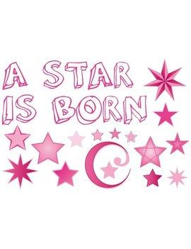 Raamsticker ' A star is born' Meisje