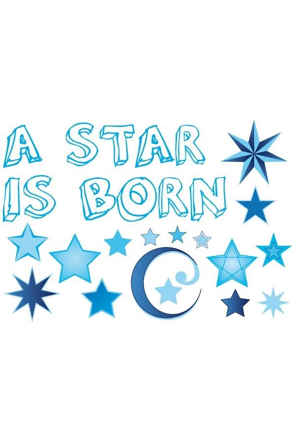 Raamsticker ' A star is born' Jongen