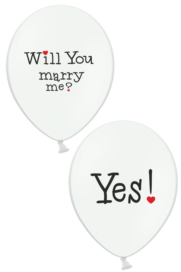 Ballonnen 'Will You Marry Me?' Yes!