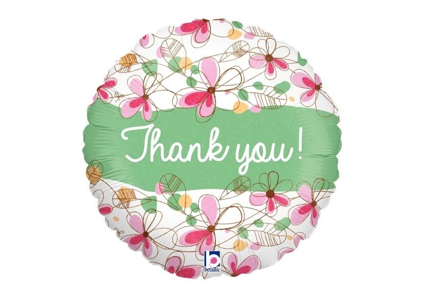 Thank You Flowers Folieballon