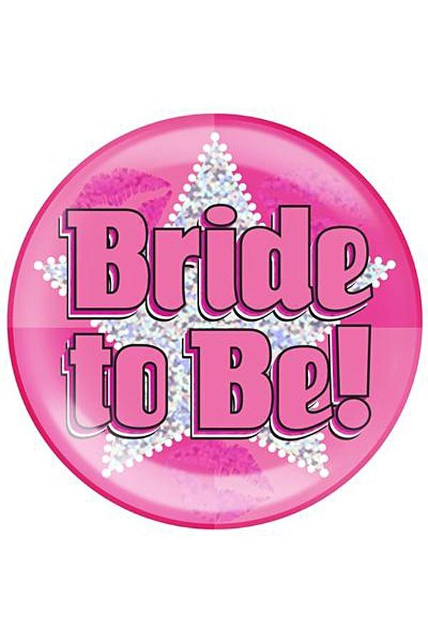 Button Vrijgezellen 'Bride To Be' XXL