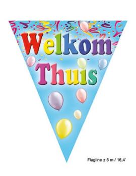 Vlaggenlijn 'Welkom Thuis' Balloons