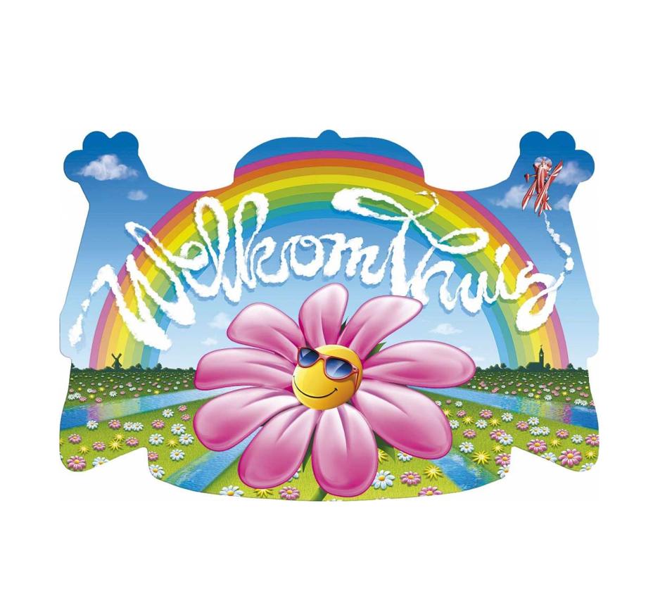 Huldeschild 'Welkom Thuis' Flowerfield