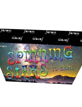 Spinning Star Vuurwerkbatterij 70 Shots  | Stil Vuurwerk