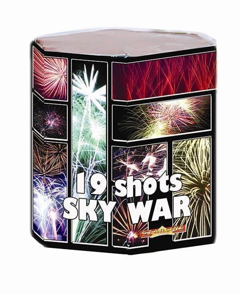 Sky War Vuurwerkbatterij 19 Shots