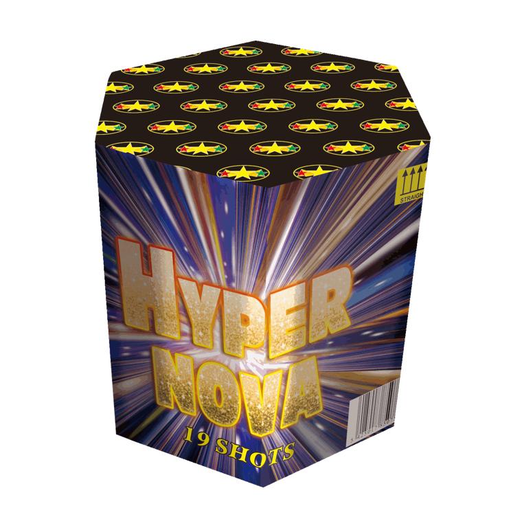 Hyper Nova  Vuurwerkbatterij 19 Shots