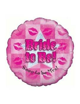 Bride To Be Folieballon   Holografix 18inch