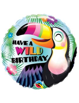 Wild Birthday Folieballon 18inch