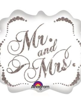 Mr & Mrs Huwelijk  Folieballon 25inch