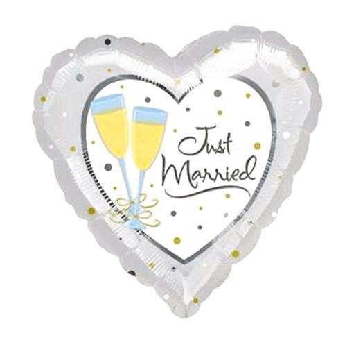Just Married Huwelijk  Folieballon 32inch
