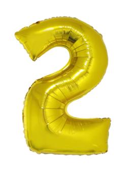 Cijfer 2 Folieballon Goud 40inch