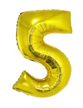 Cijfer 5 Folieballon Goud 40inch