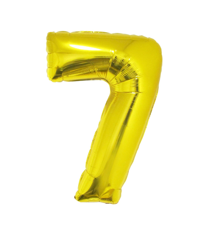 Cijfer 7  Folieballon Goud 40inch