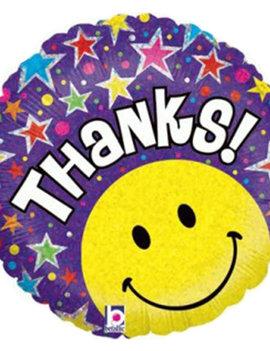 Thanks Smiley Folieballon - 18inch