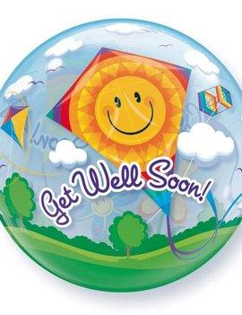 Bubble Ballon Get Well Soon!  -  56cm