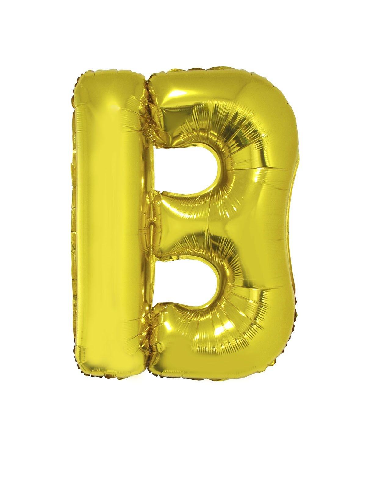 Letter B Folieballon Goud 40inch