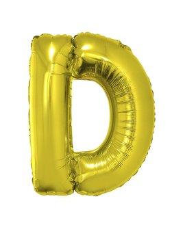 Letter D Folieballon Goud 40inch