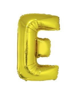 Letter E Folieballon Goud 40inch