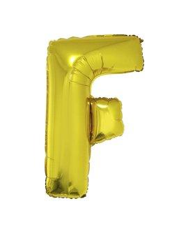 Letter F Folieballon Goud 40inch
