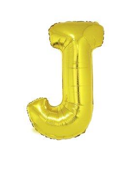 Letter J Folieballon Goud 40inch