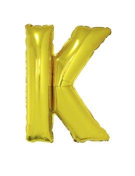 Letter K Folieballon Goud 40inch