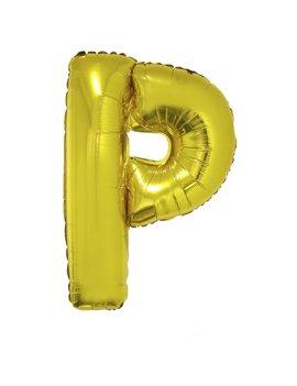 Letter P Folieballon Goud 40inch