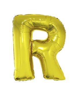Letter R Folieballon Goud 40inch