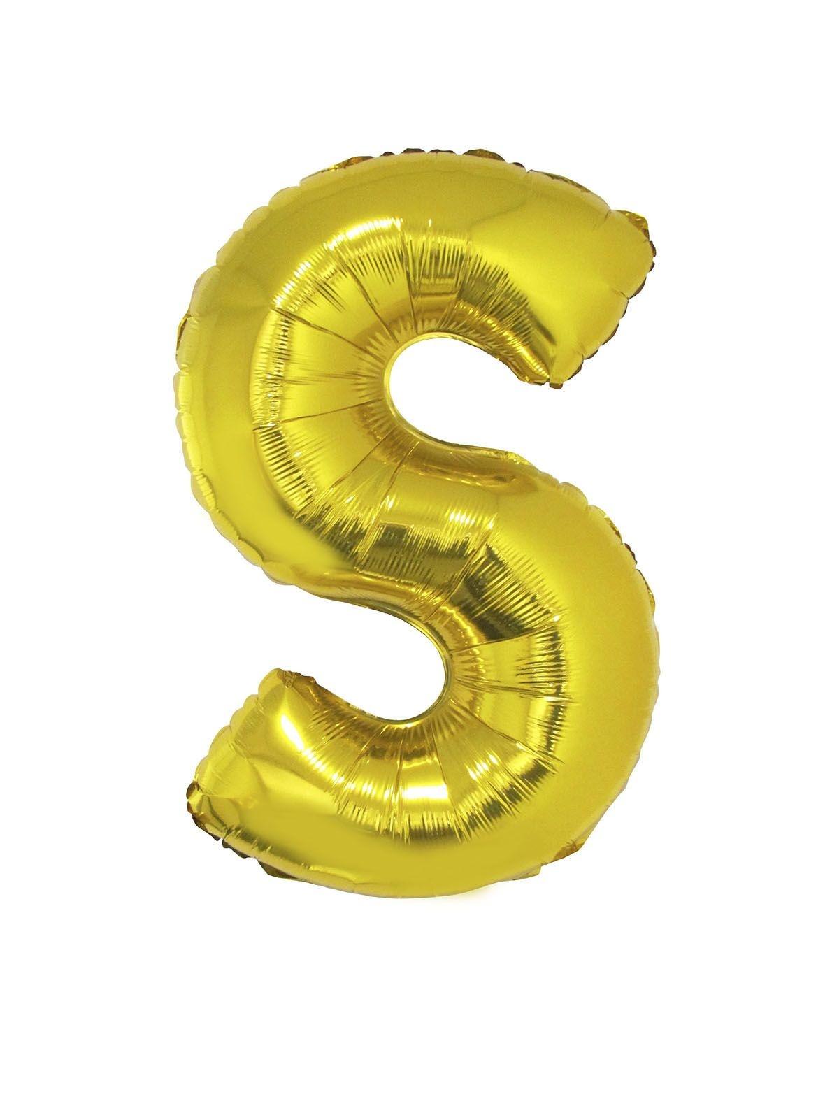 Letter S Folieballon Goud 40inch