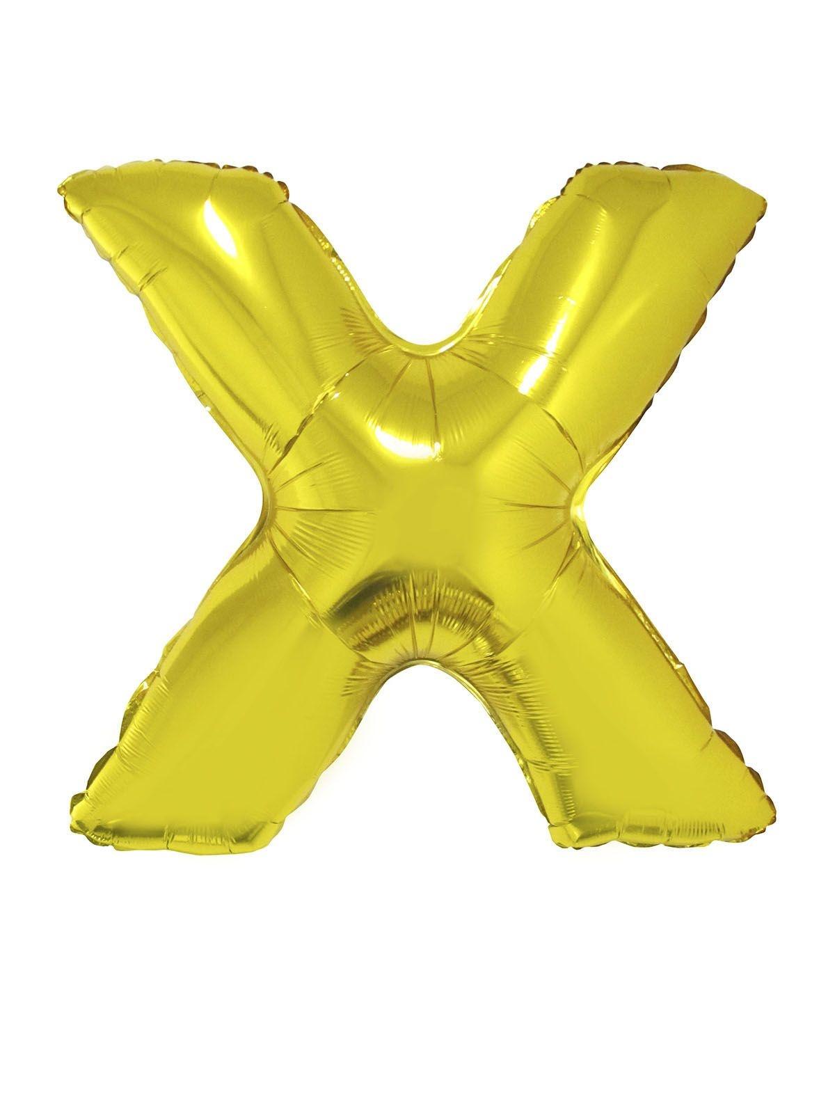 Letter X Folieballon Goud 40inch
