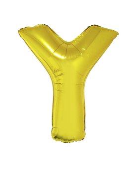 Letter Y Folieballon Goud 40inch