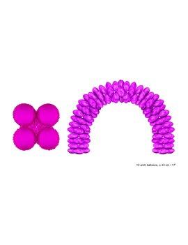 10 Folieballonnen voor Ballonboog/Pilaar Fushia