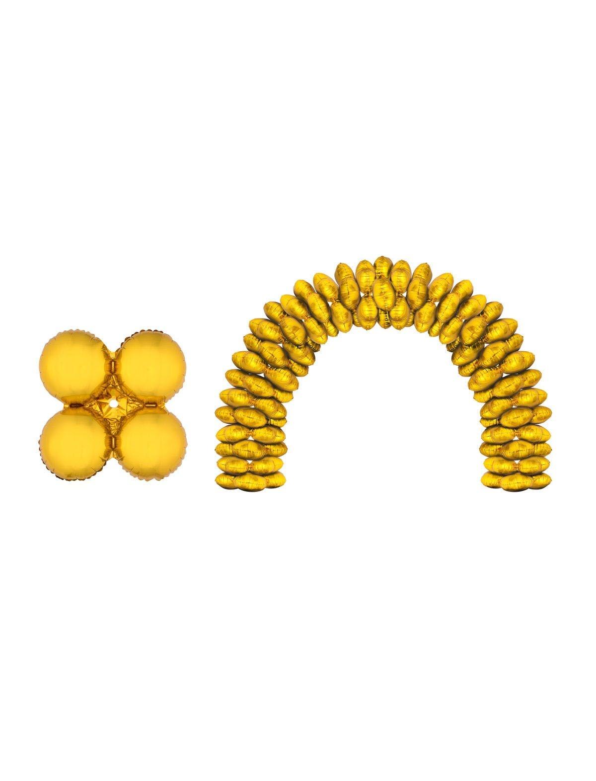 10 Folieballonnen voor Ballonboog/PilaarGoud