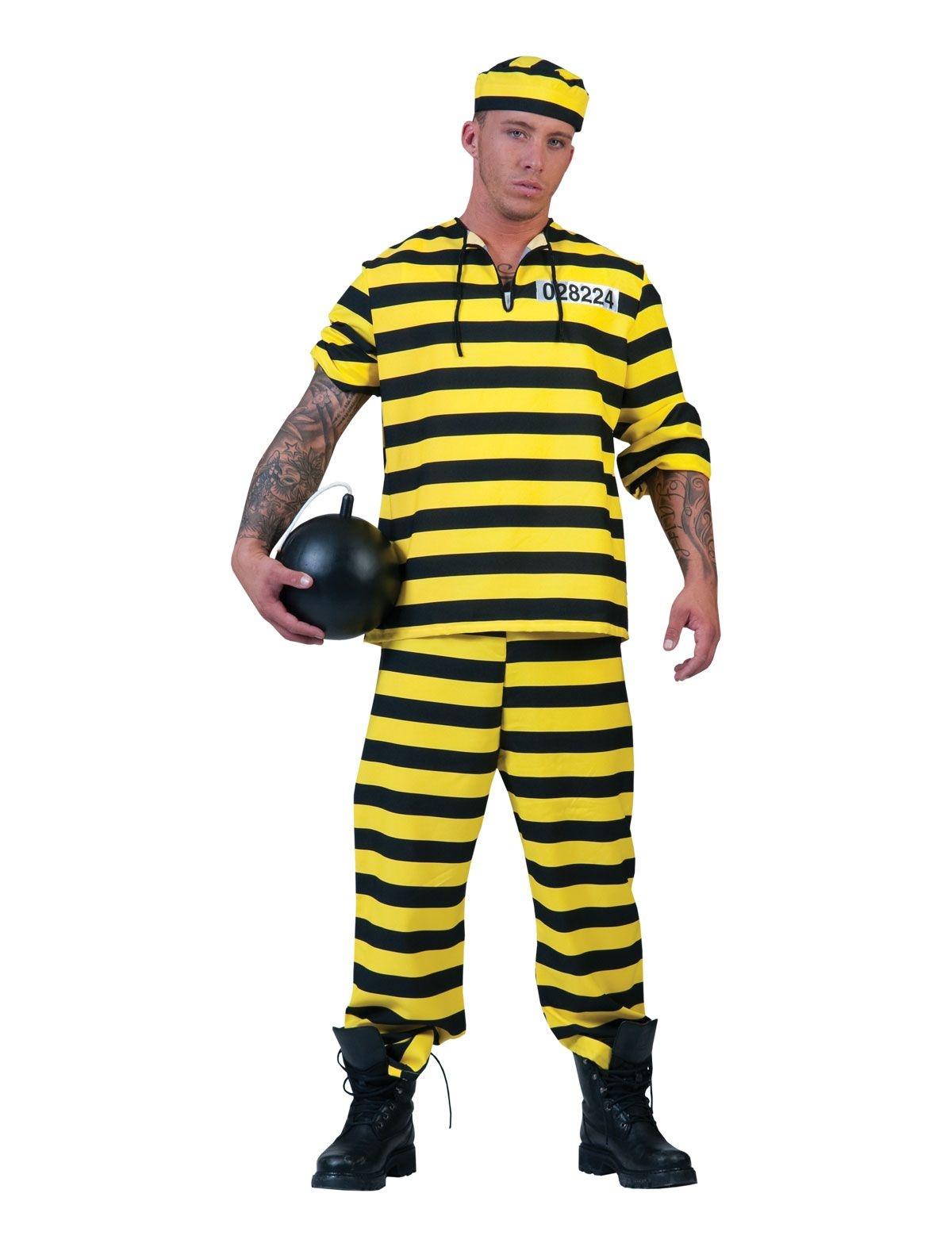 Dalton gevangenen Kostuum | Geel/Zwart