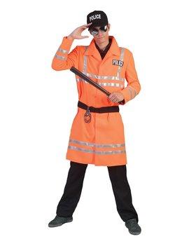 Politieman Jas |  Neon Oranje Kostuum