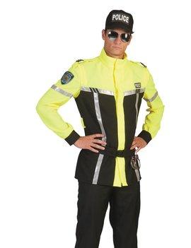 Politieman Jas |  Neon Geel Kostuum