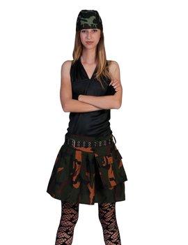 Leger Tutu / Kilt Camouflage Vrouw