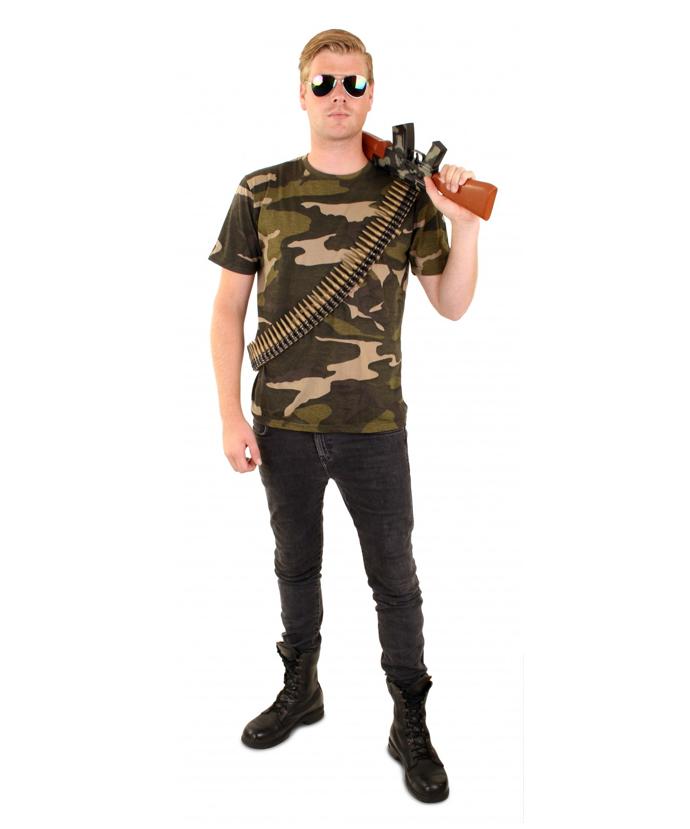 Leger/ Camouflage  T-shirt Heren