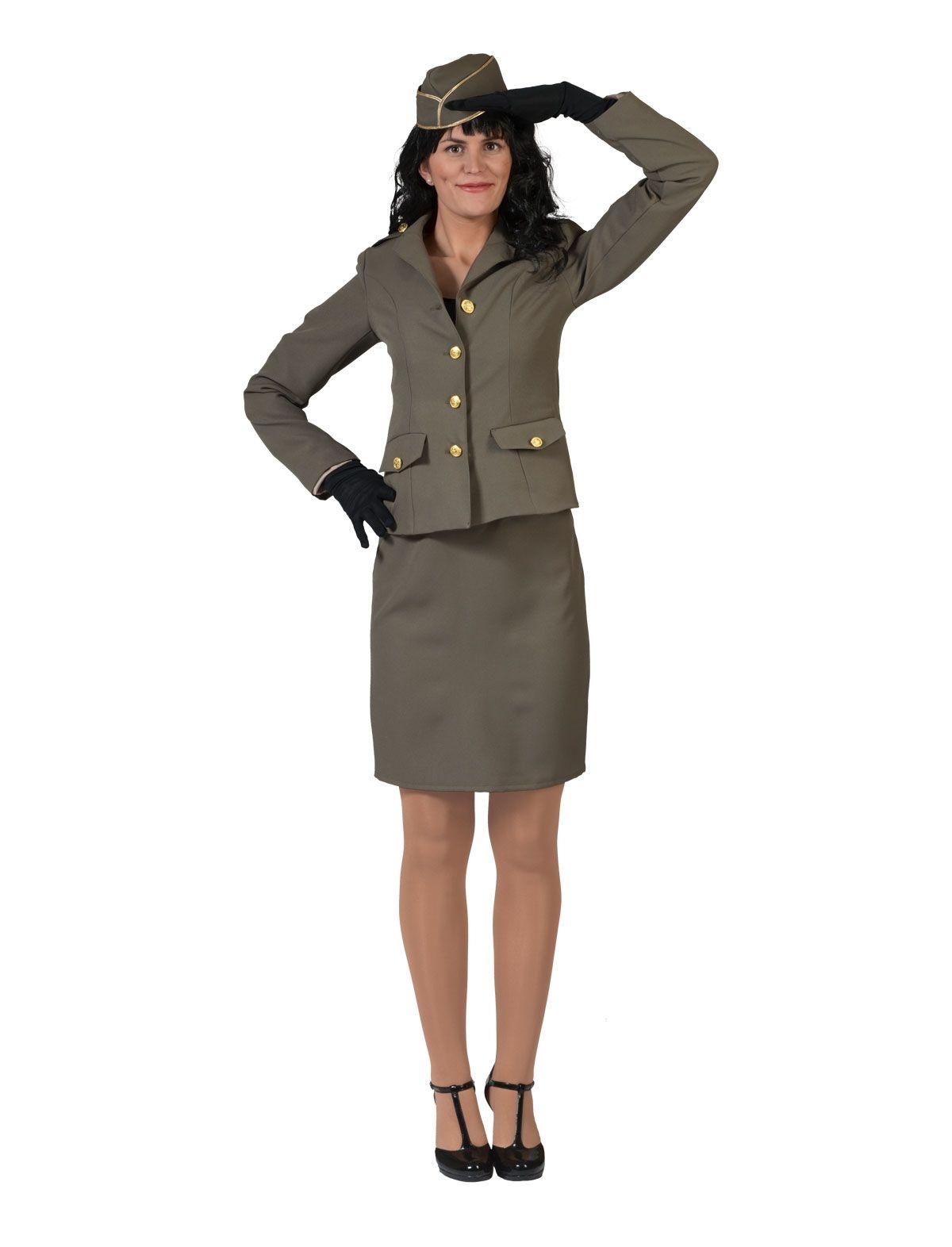 Legervrouw Kostuum | Militair Woman