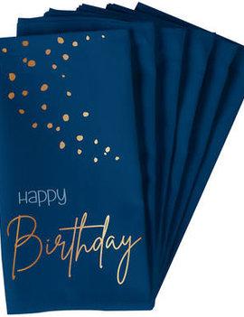 Happy Birthday Servetten | Elegant Blue